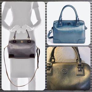 cea1316c479 Tory Burch · Tory Burch Middy Satchel Speedy Style Gray Bag
